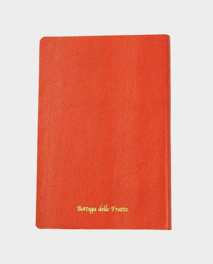 Taccuino in pelle arancio Toro con fregio dorato small